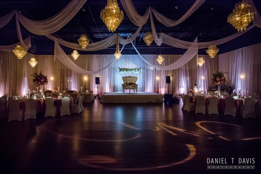 Romantic Wedding Uplighting in Houston