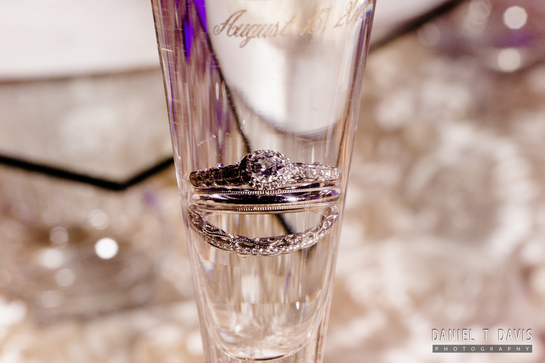 Wedding Ring in Champagne Glass