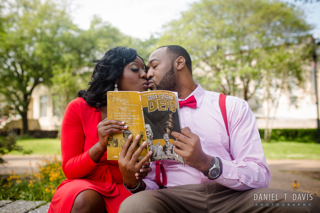 comic book engagement photos