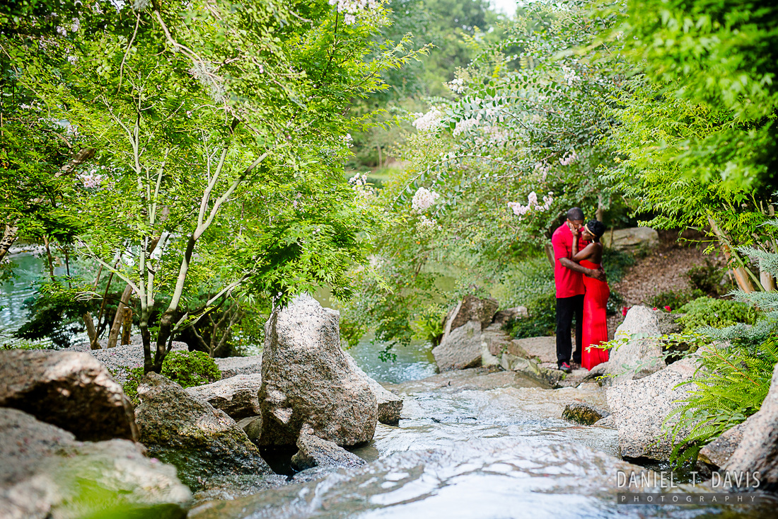 Gentil Japanese Gardens Houston Engagement Photos