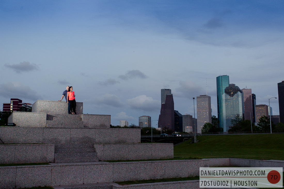 houston police memorial engagement photos