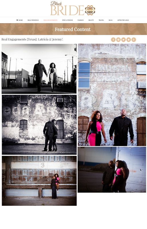 Black Bride Magazine Texas Wedding Engagement Photographer