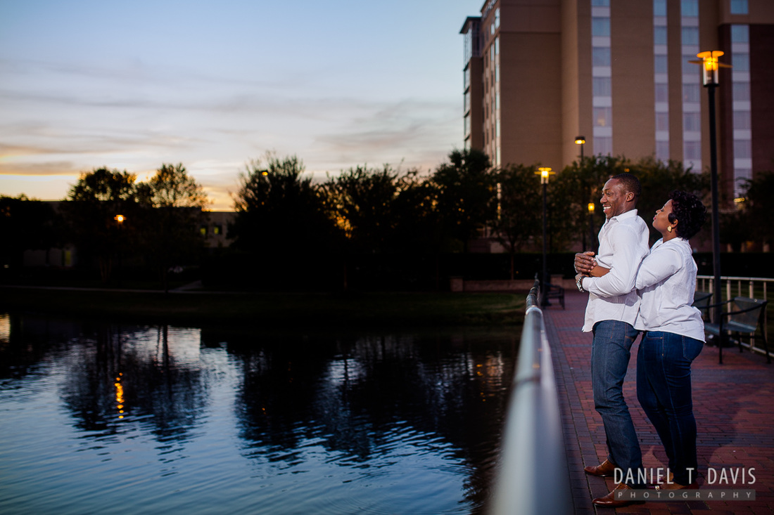 Sunset Engagement Photos in Sugarland
