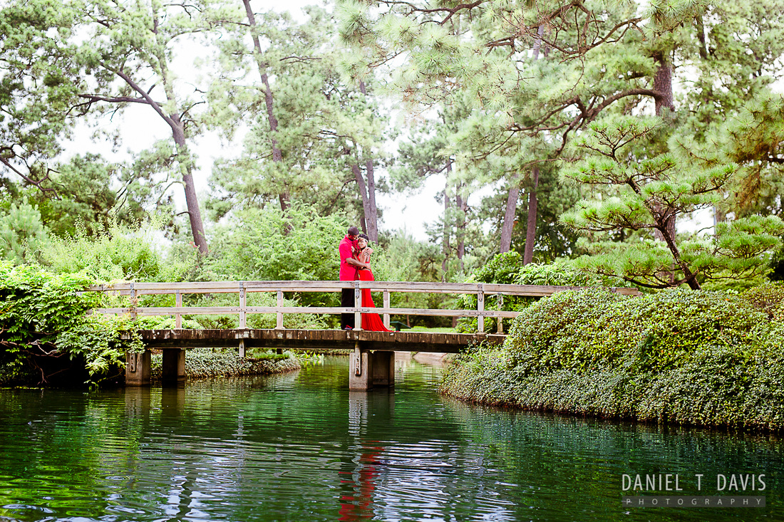 Beau Japanese Garden Houston Engagement Photos