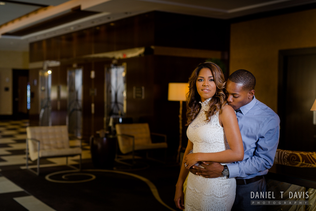 Houston Hotel Engagement Photos