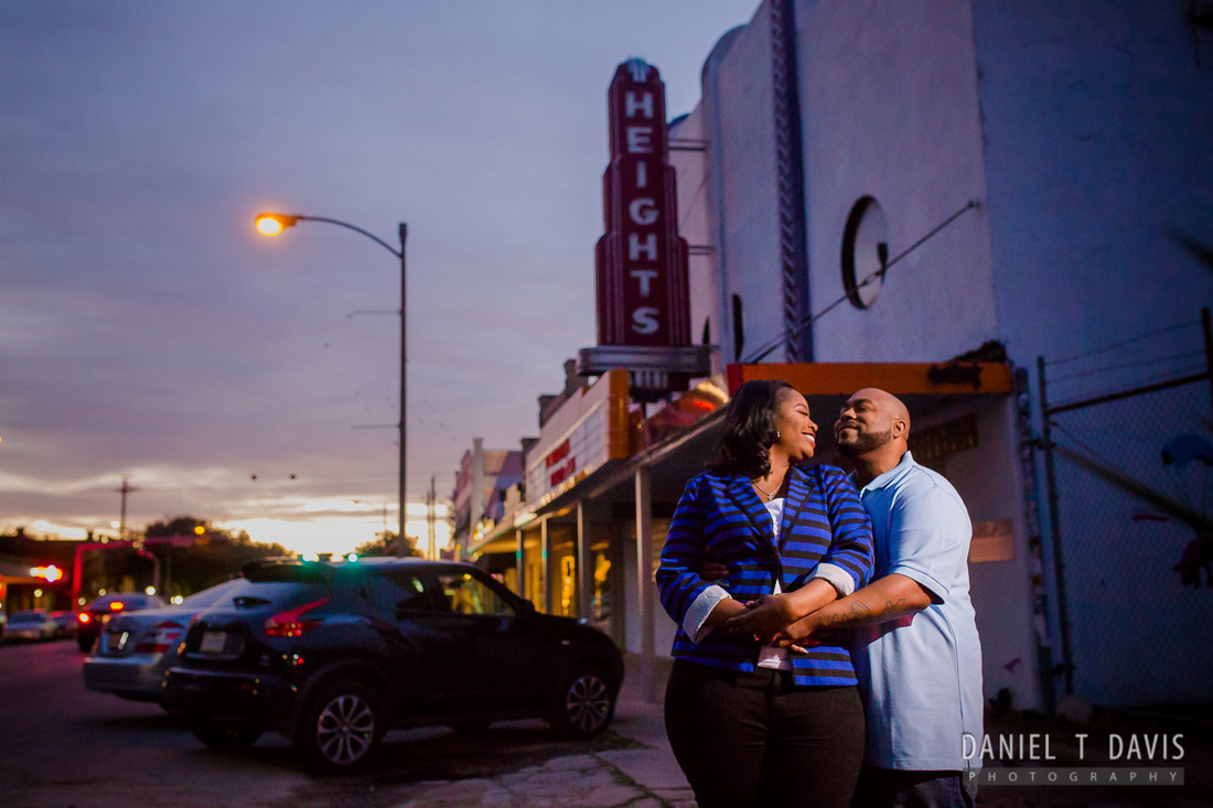 19th Street Houston Heights Engagement Photos