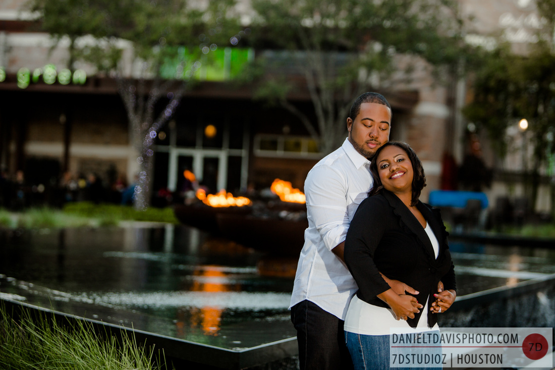 city centre houston engagement photos