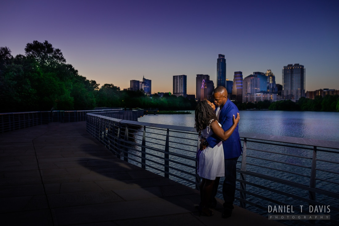 Downtown Austin Skyline Engagement Photos