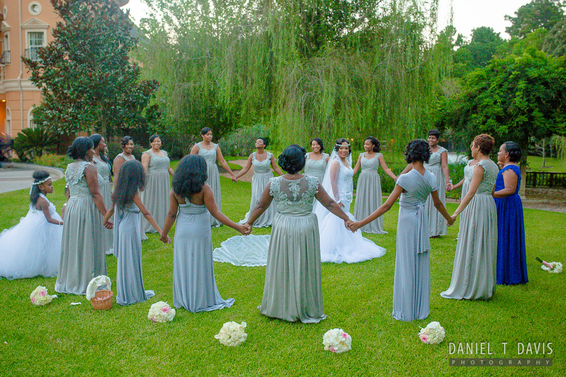 Large Bridal Party Photo Ideas