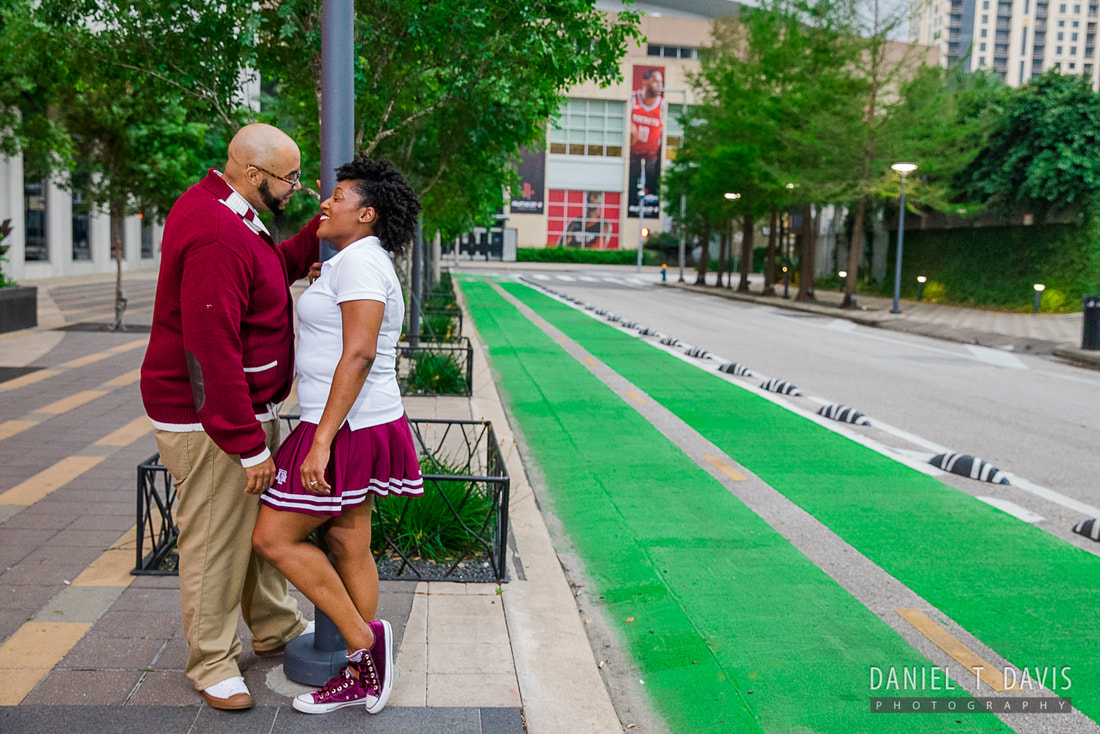 Toyota Center Houston Engagement Photos