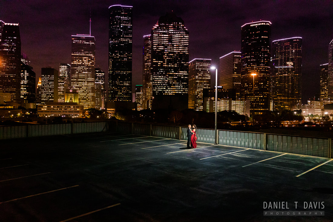 Houston Rooftop Downtown Skyline Engagement Locations