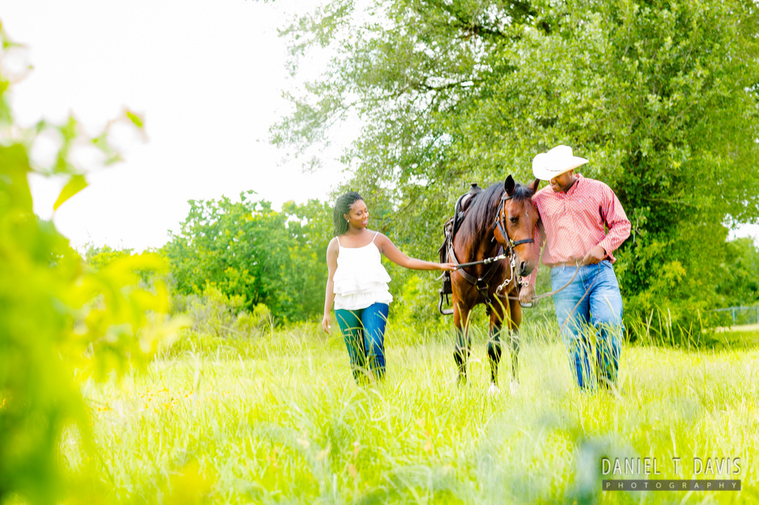 Horse Engagement Photos in Houston
